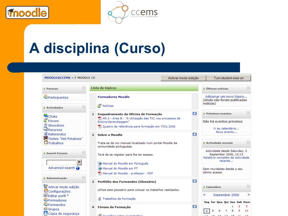A disciplina (Curso)