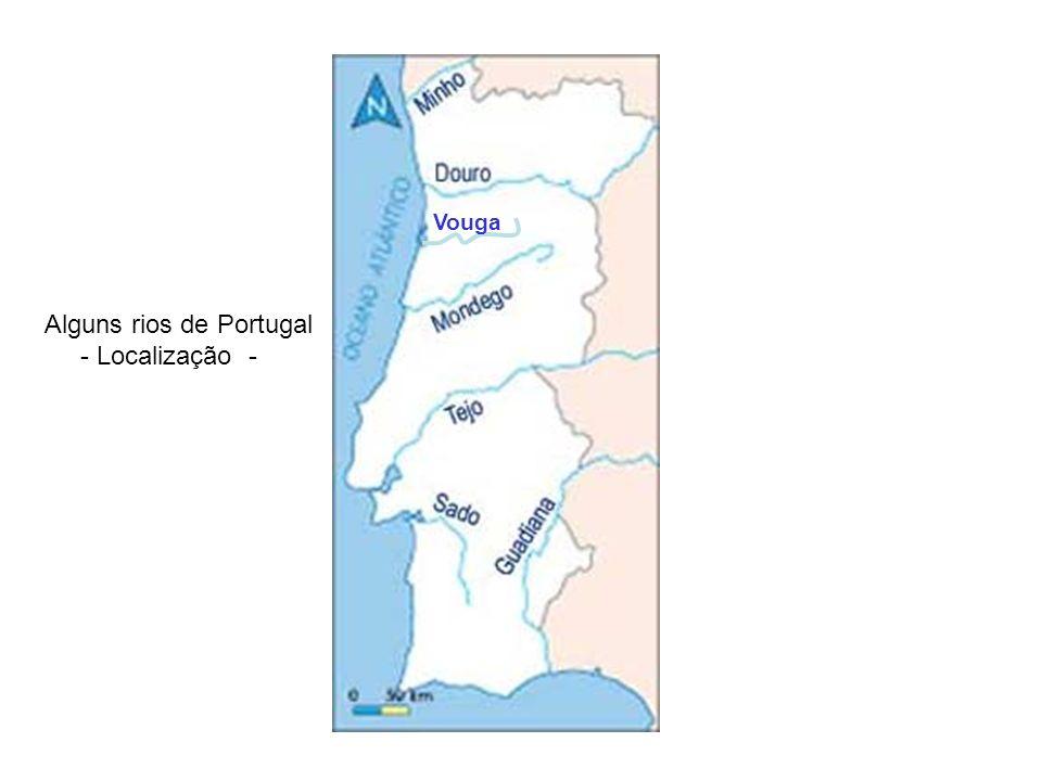 Alguns rios de Portugal - Localização -