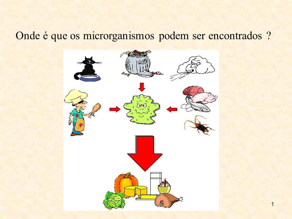 Onde é que os microrganismos podem ser encontrados