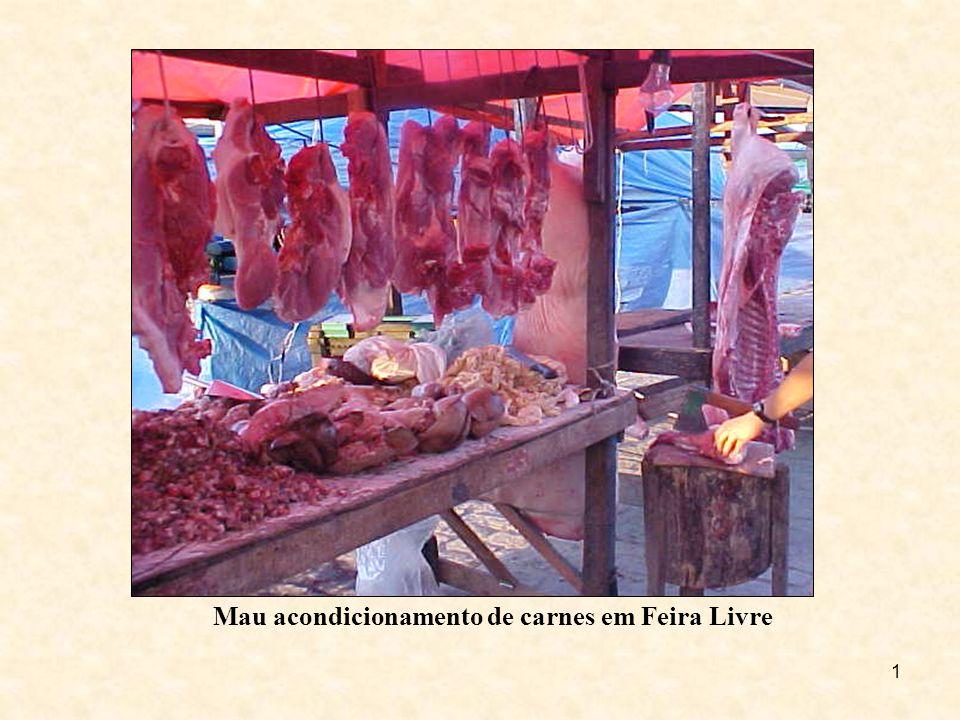 Mau acondicionamento de carnes em Feira Livre