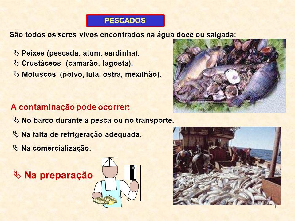  Na preparação A contaminação pode ocorrer: PESCADOS