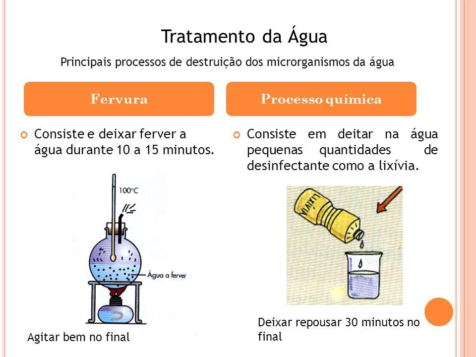 Tratamento da Água Fervura Processo química