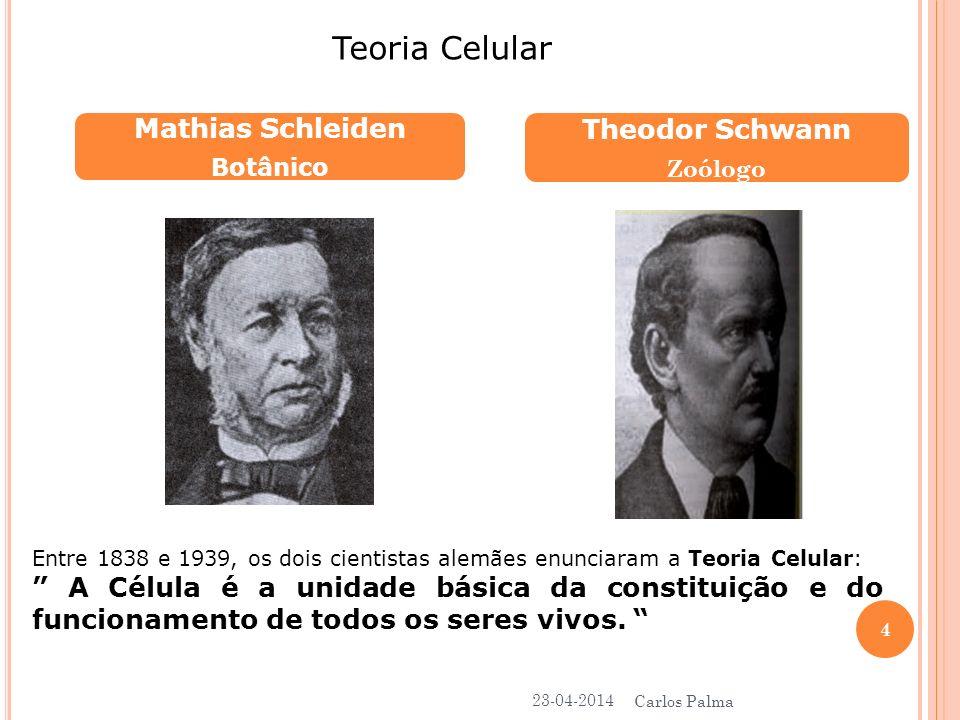 Teoria Celular Mathias Schleiden Theodor Schwann