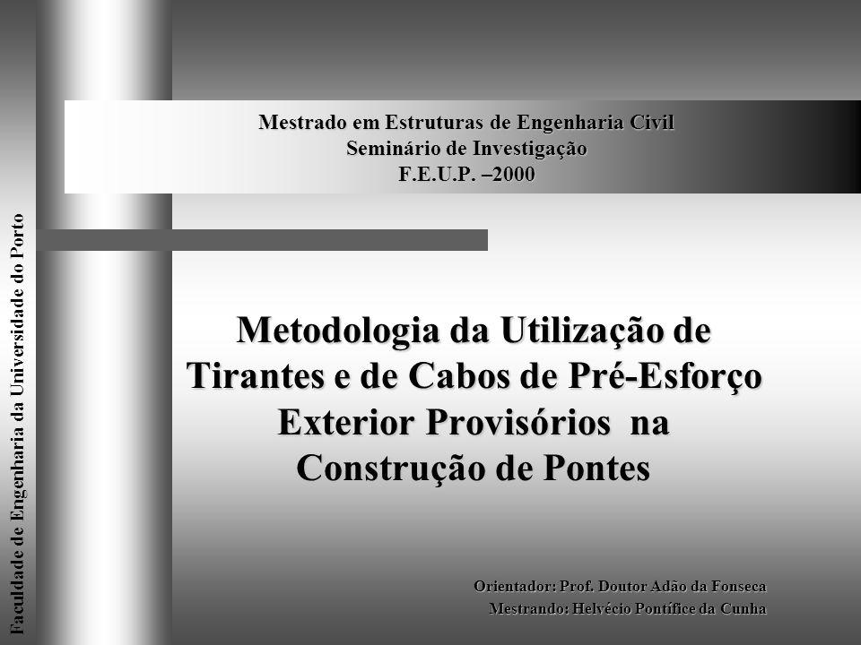 Mestrado em Estruturas de Engenharia Civil Seminário de Investigação F