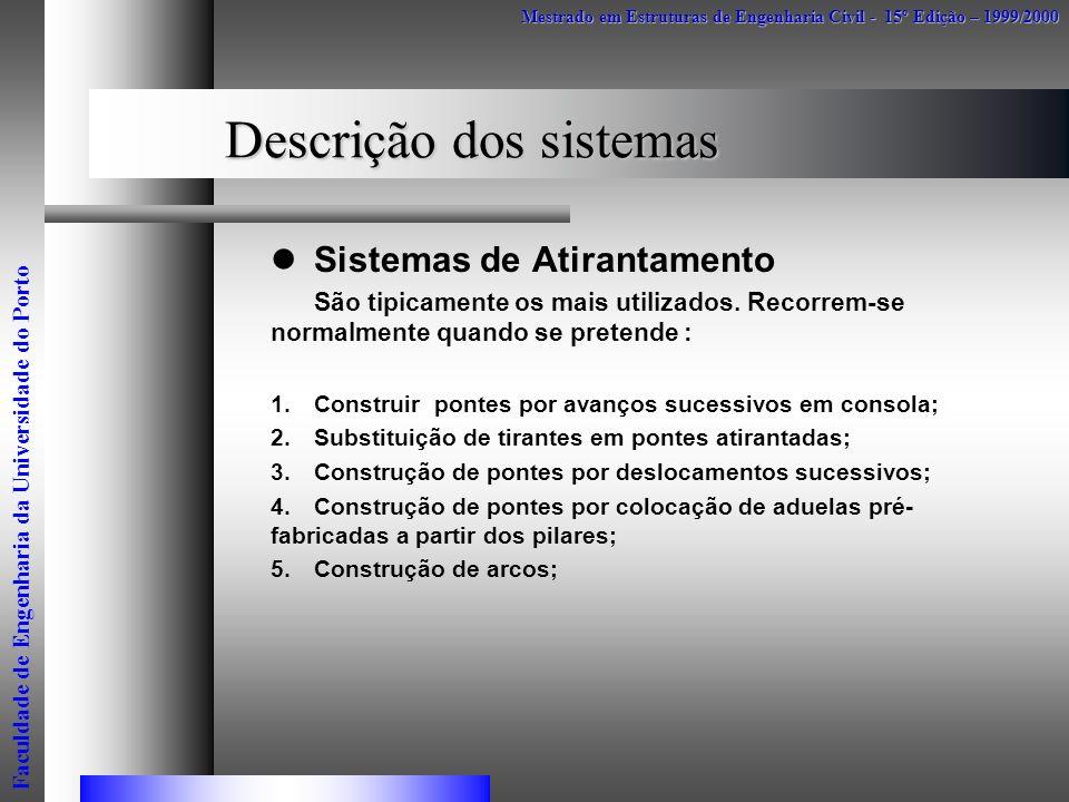 Descrição dos sistemas