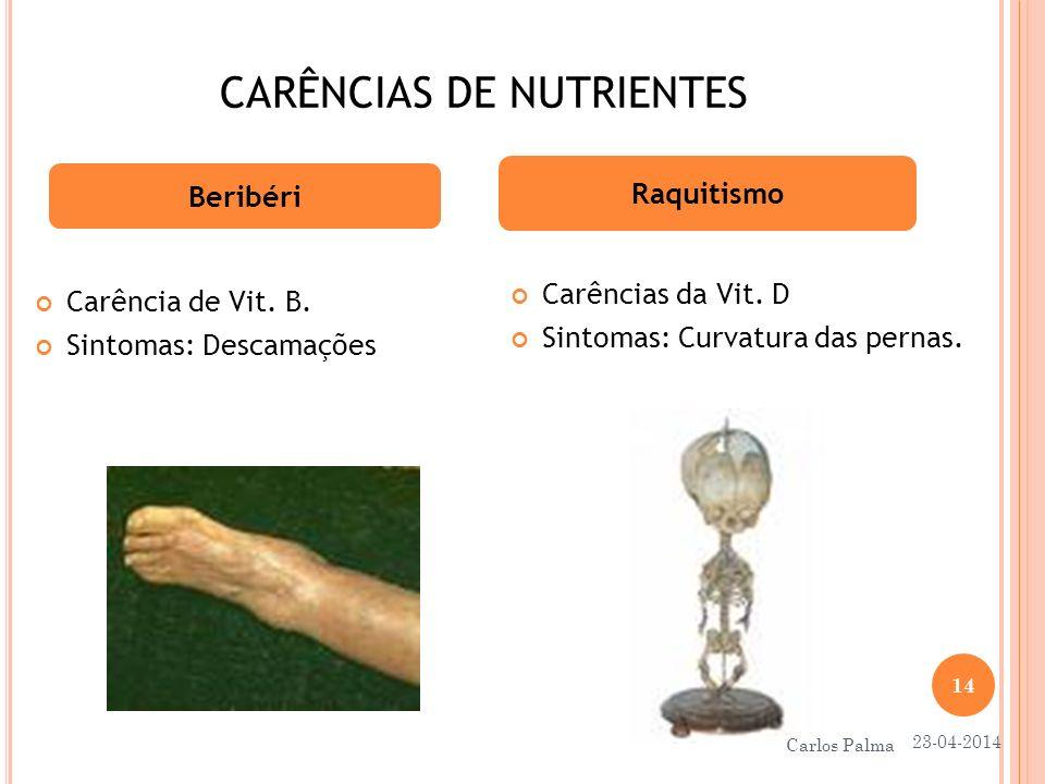 CARÊNCIAS DE NUTRIENTES
