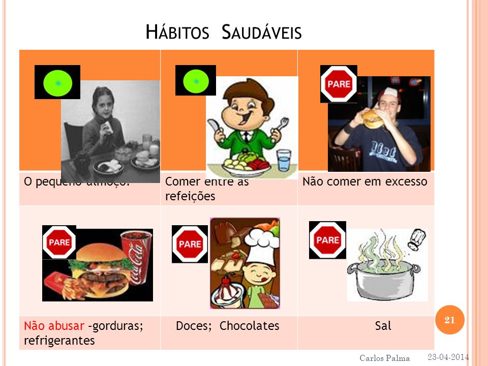 Hábitos Saudáveis O pequeno almoço. Comer entre as refeições