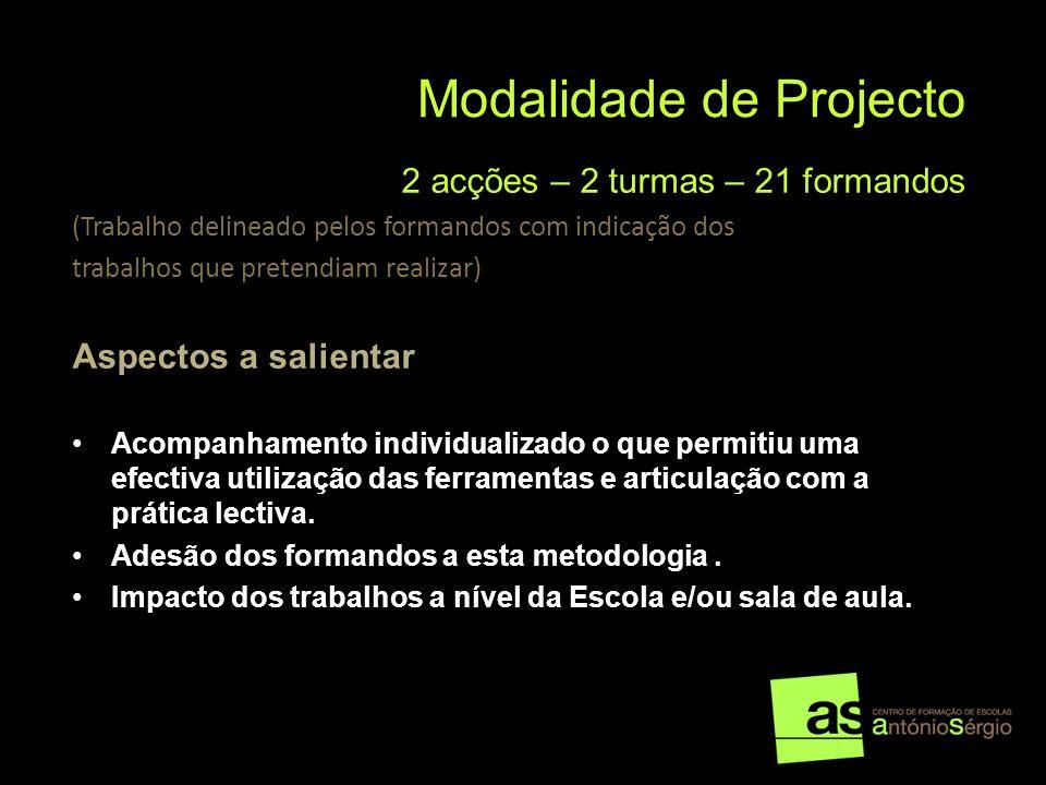 Modalidade de Projecto