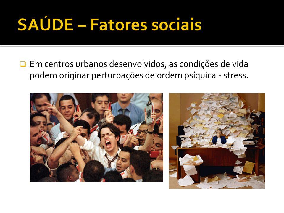 SAÚDE – Fatores sociais
