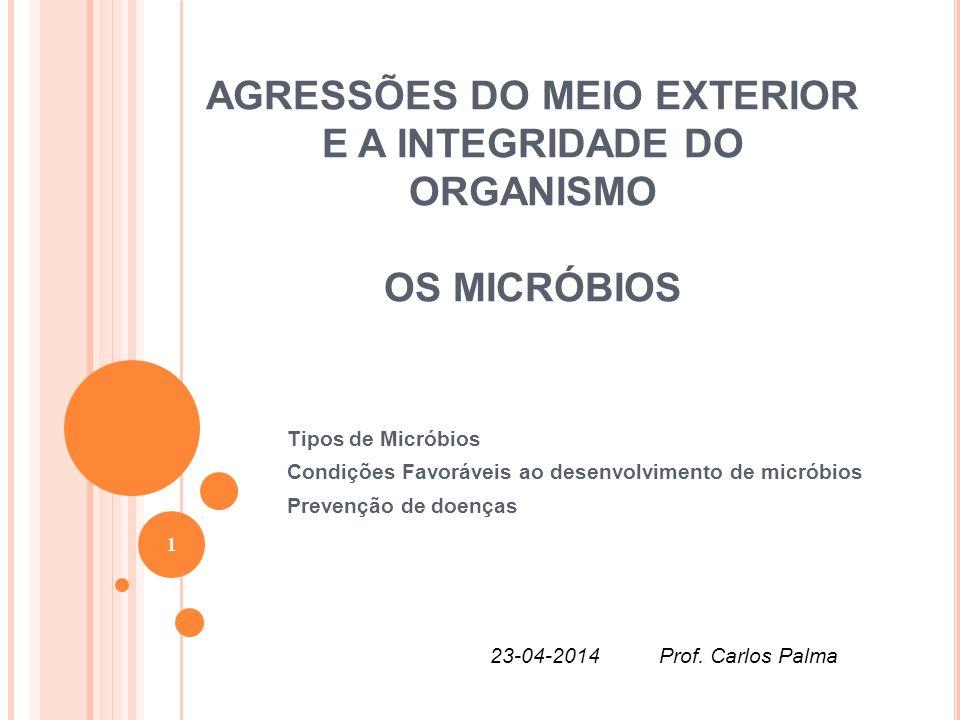AGRESSÕES DO MEIO EXTERIOR E A INTEGRIDADE DO ORGANISMO OS MICRÓBIOS