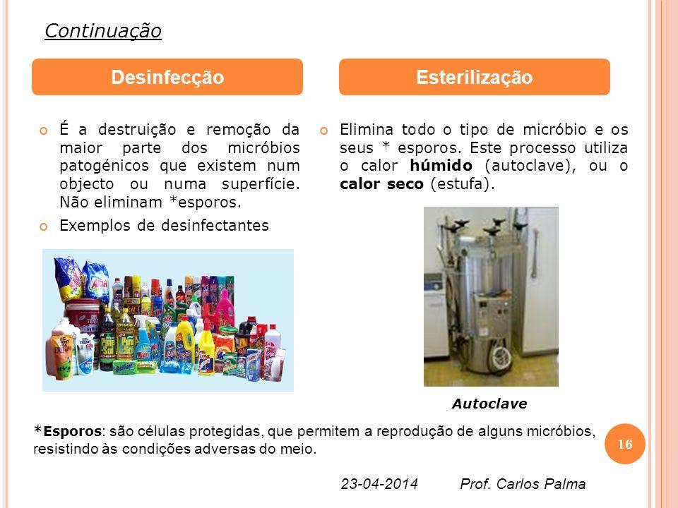 Desinfecção Esterilização