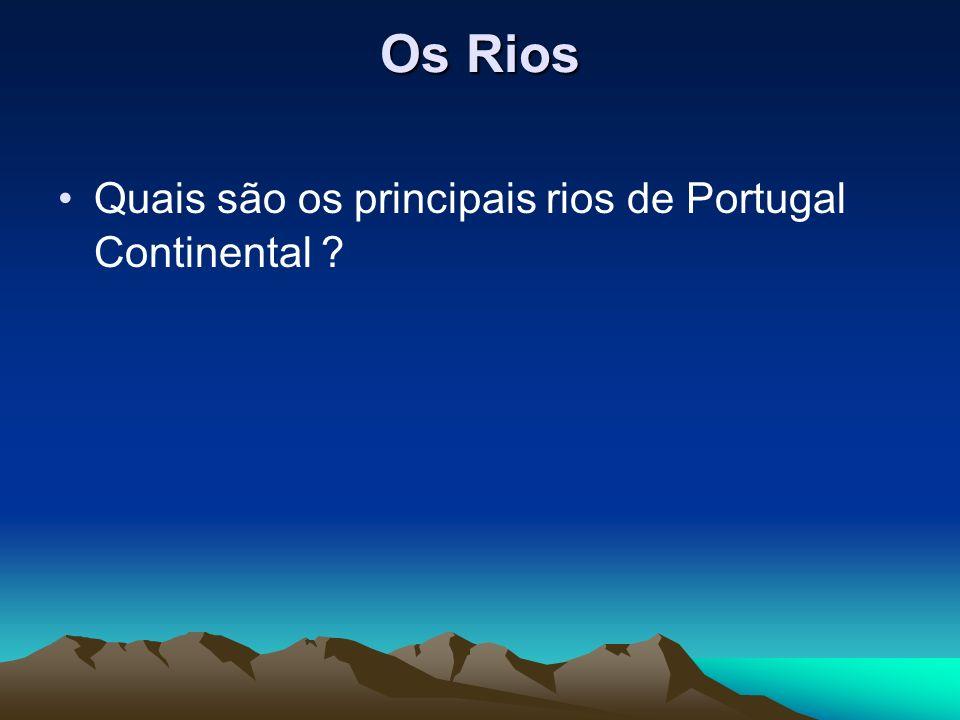 Os Rios Quais são os principais rios de Portugal Continental
