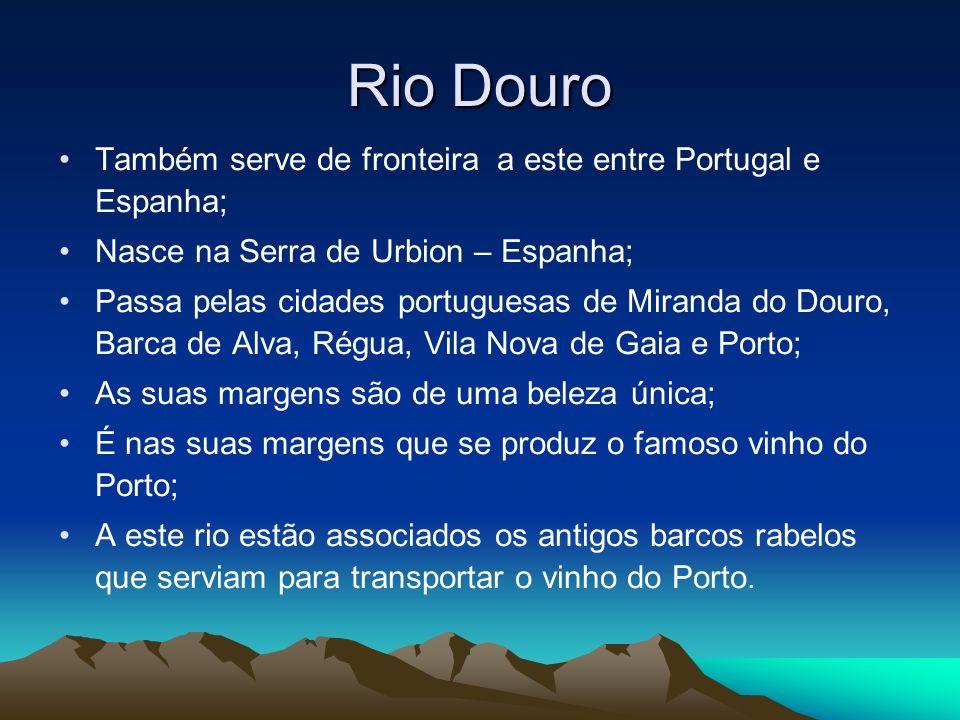 Rio Douro Também serve de fronteira a este entre Portugal e Espanha;