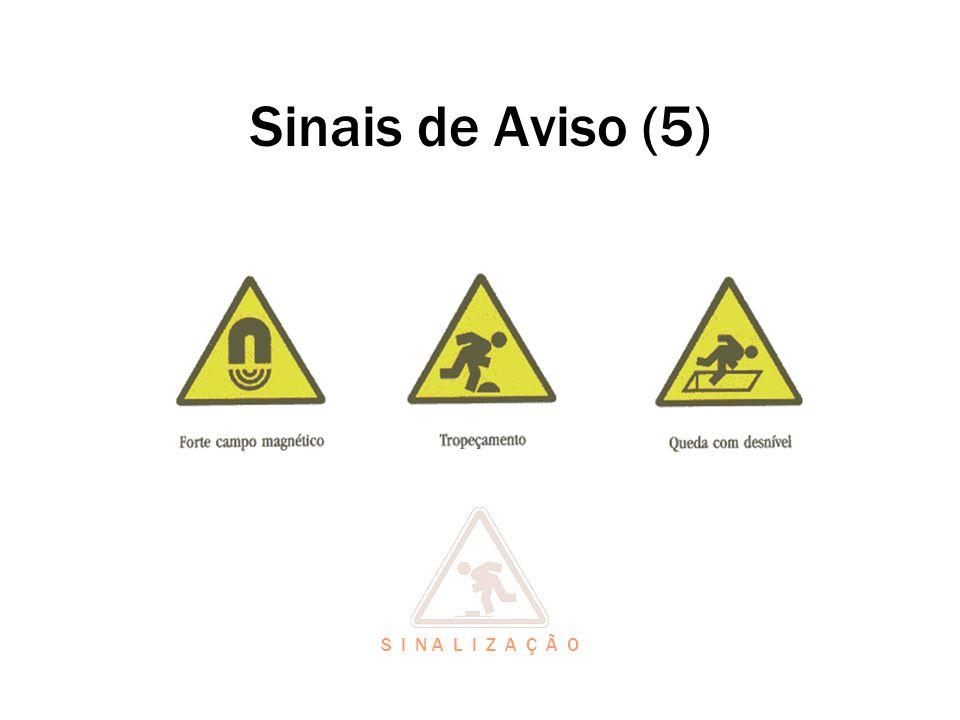 Sinais de Aviso (5) S I N A L I Z A Ç Ã O
