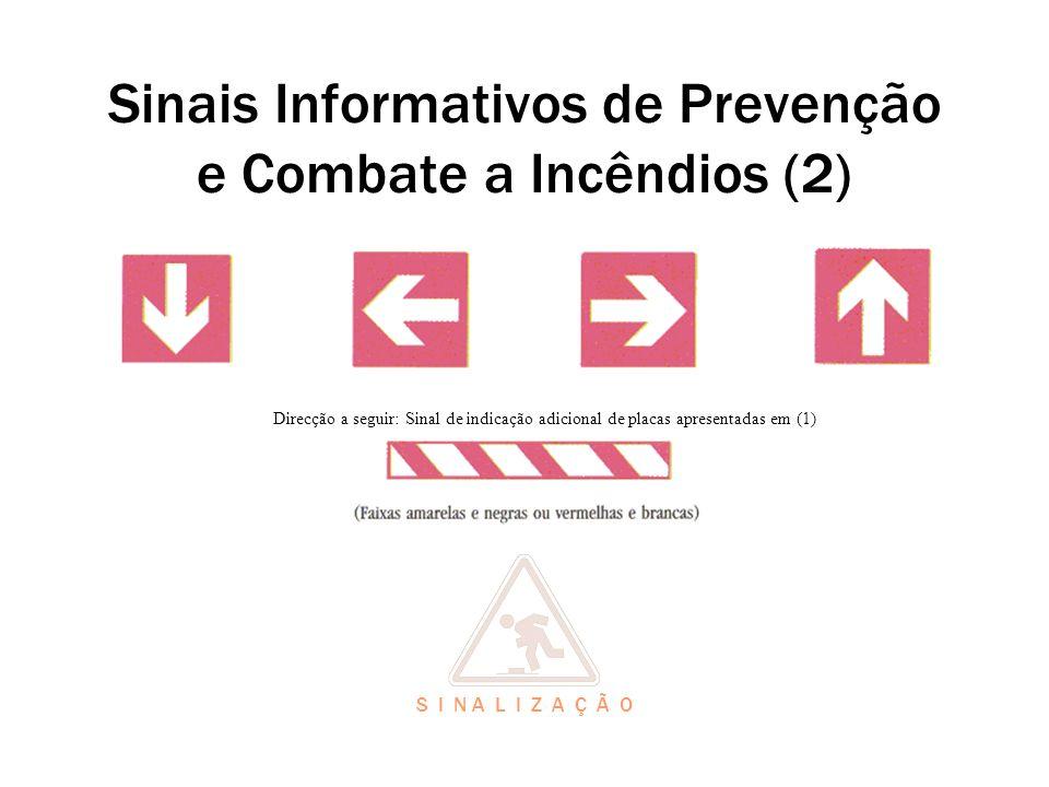 Sinais Informativos de Prevenção e Combate a Incêndios (2)