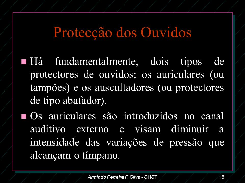 Armindo Ferreira F. Silva - SHST