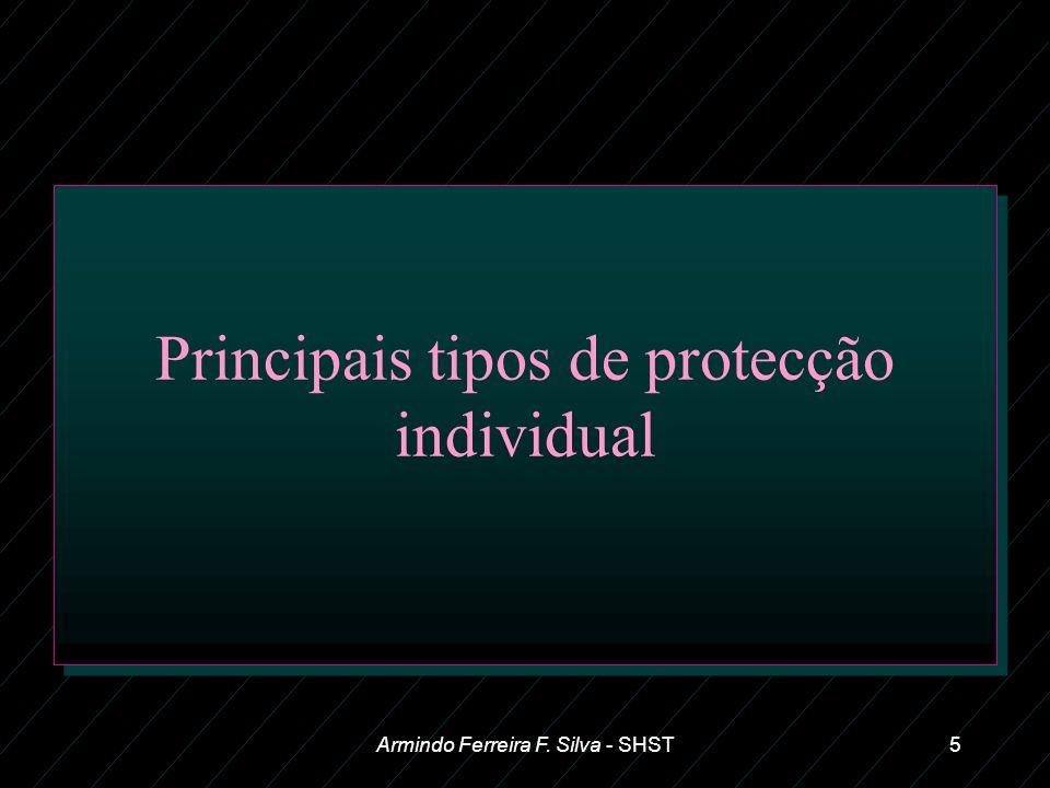 Principais tipos de protecção individual