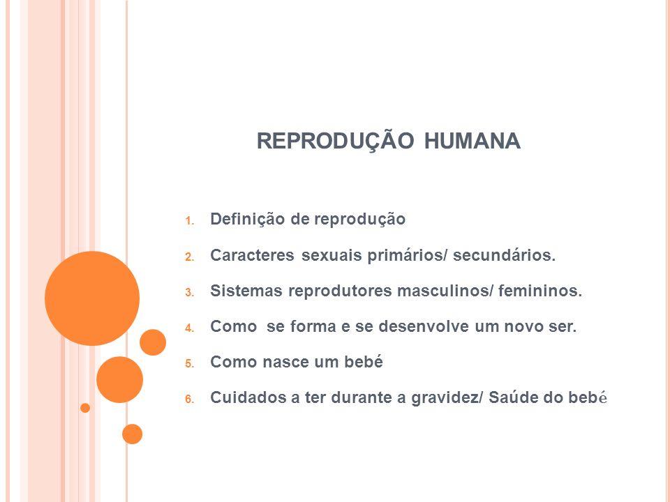 REPRODUÇÃO HUMANA Definição de reprodução