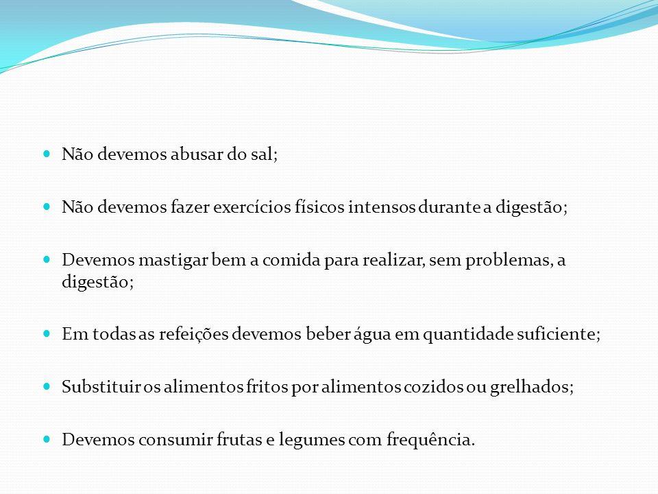 Não devemos abusar do sal;