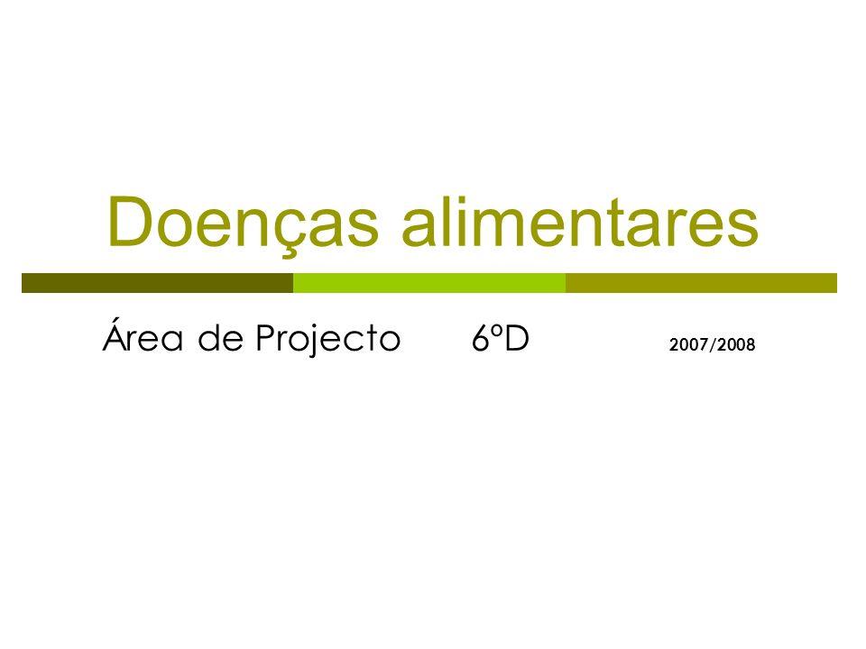 Doenças alimentares Área de Projecto 6ºD 2007/2008
