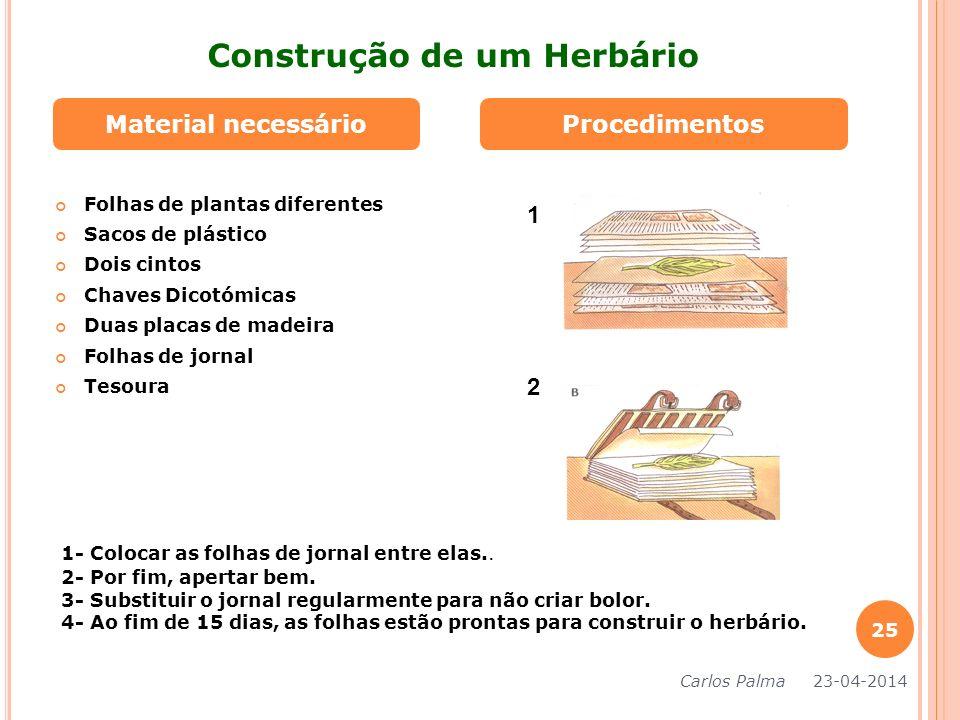 Construção de um Herbário