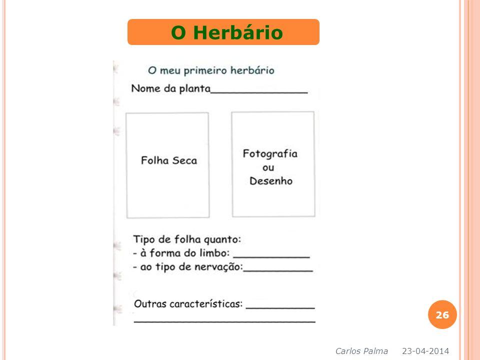 O Herbário Carlos Palma 26-03-2017