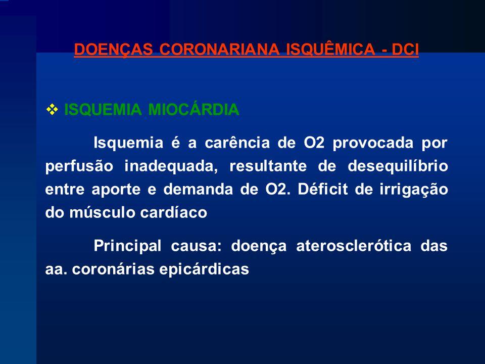 DOENÇAS CORONARIANA ISQUÊMICA - DCI