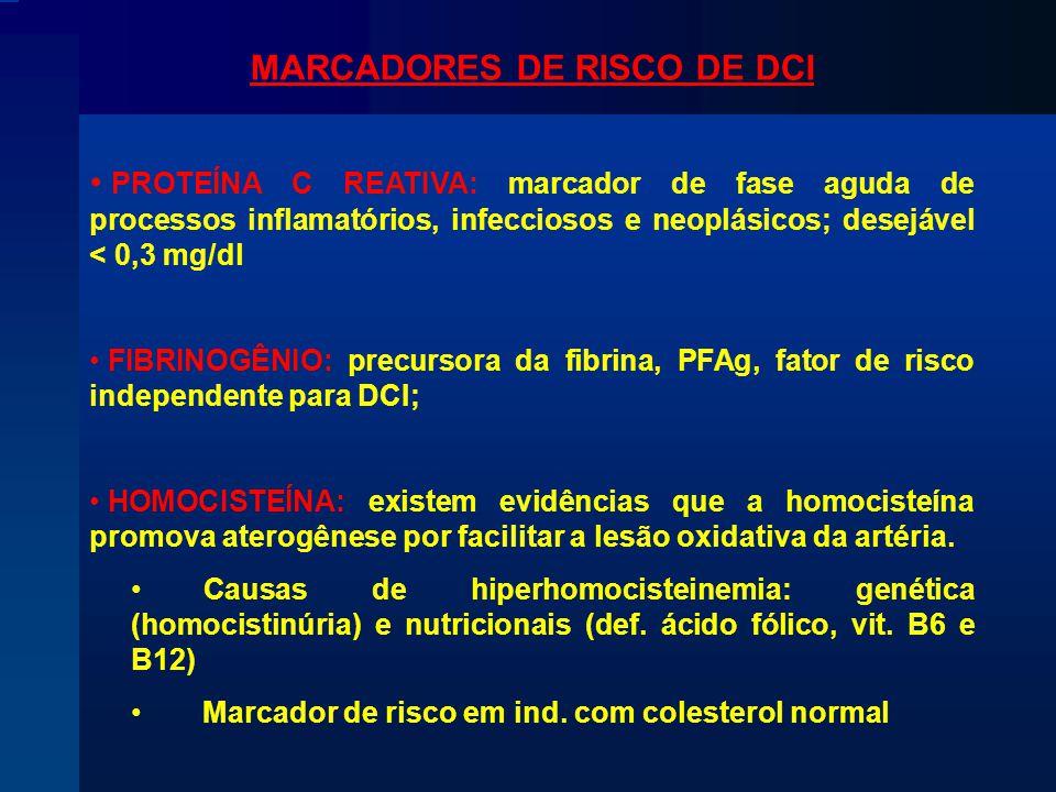 MARCADORES DE RISCO DE DCI