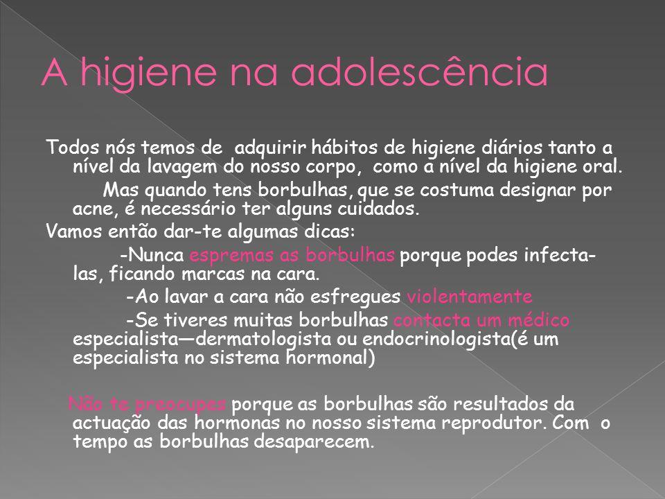 A higiene na adolescência