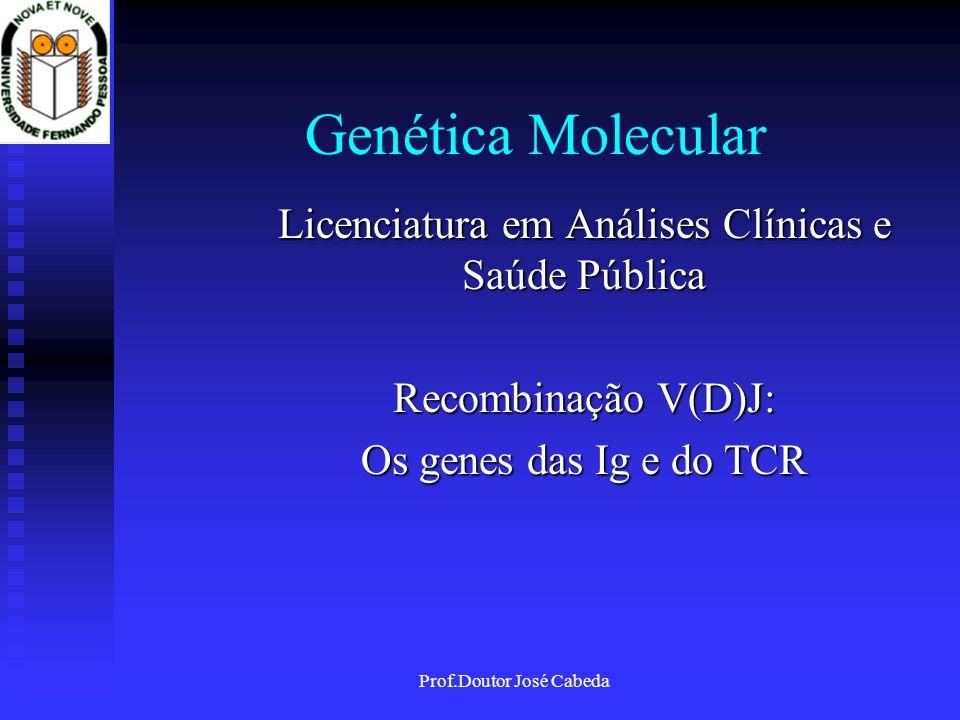 Genética Molecular Licenciatura em Análises Clínicas e Saúde Pública