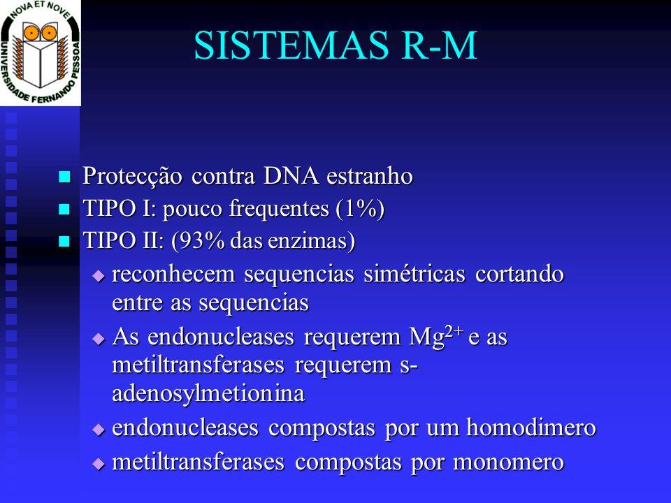 SISTEMAS R-M Protecção contra DNA estranho