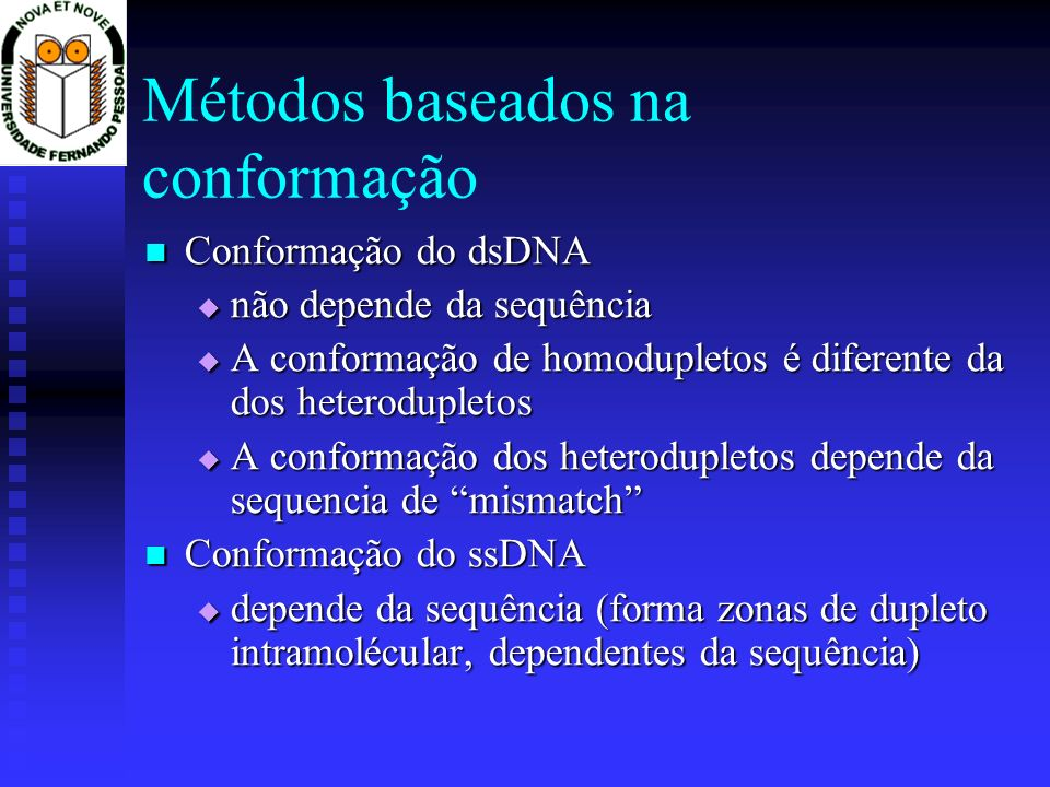 Métodos baseados na conformação