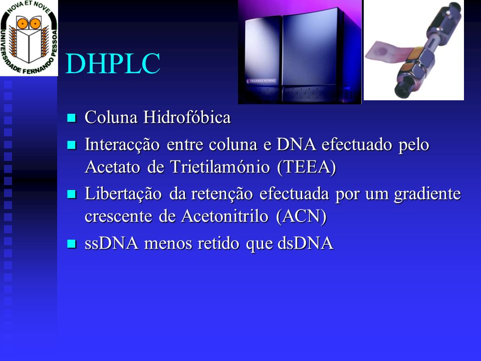 DHPLC Coluna Hidrofóbica