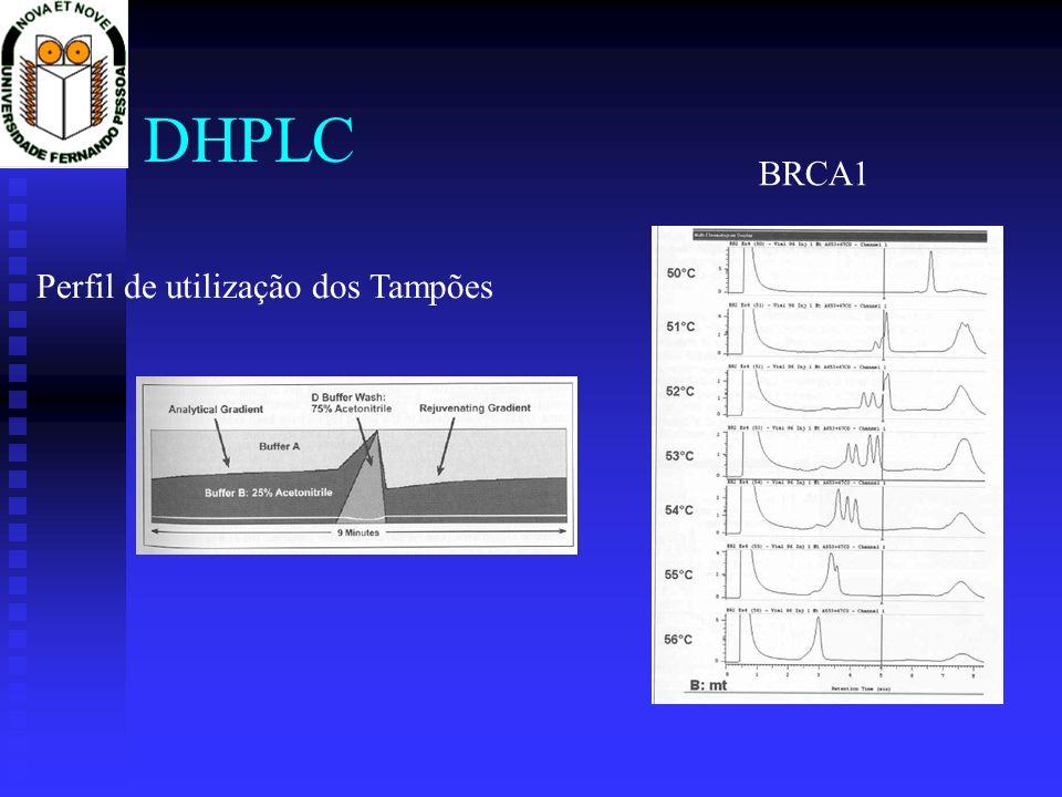 DHPLC BRCA1 Perfil de utilização dos Tampões