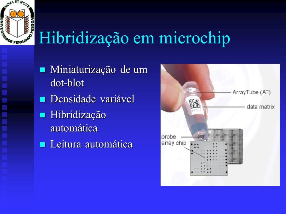 Hibridização em microchip