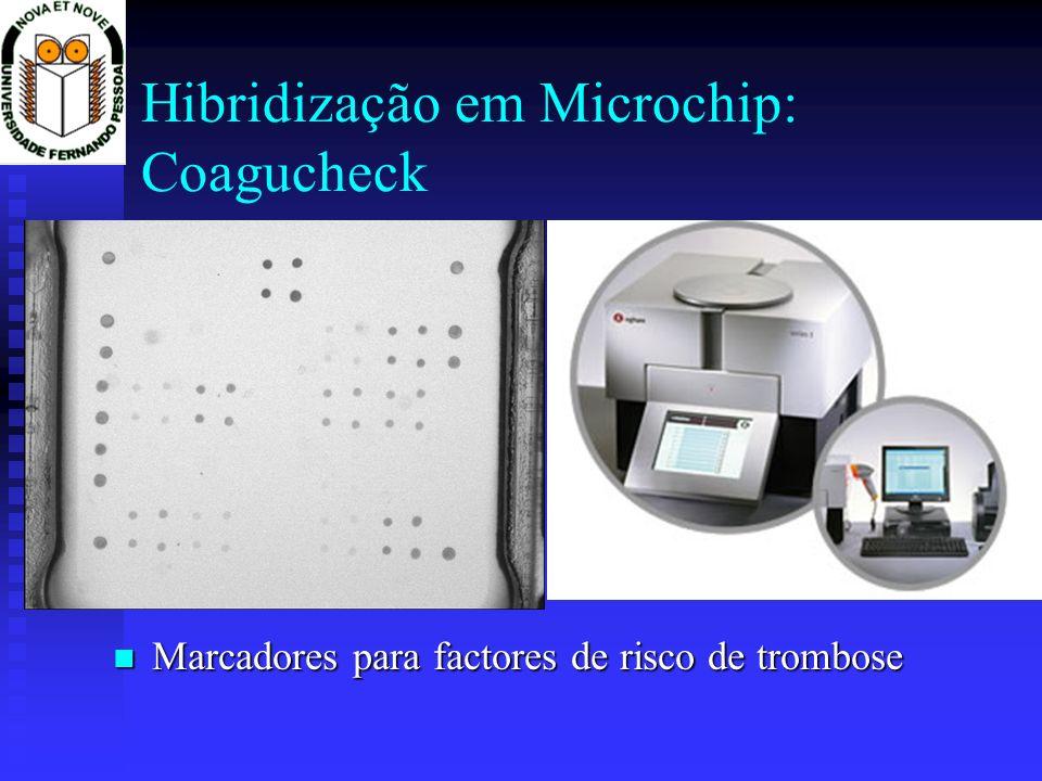 Hibridização em Microchip: Coagucheck