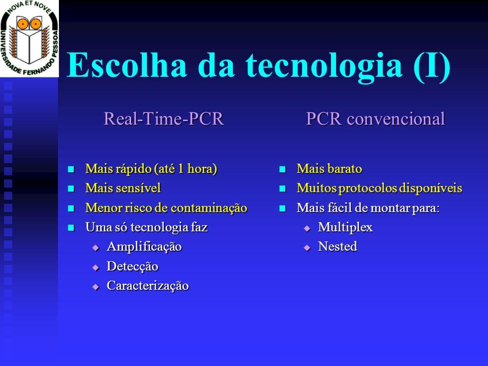 Escolha da tecnologia (I)