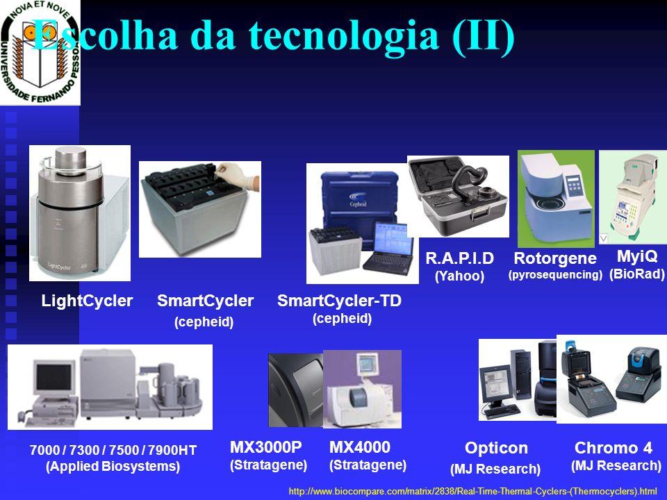 Escolha da tecnologia (II)