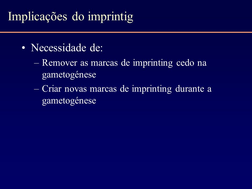 Implicações do imprintig