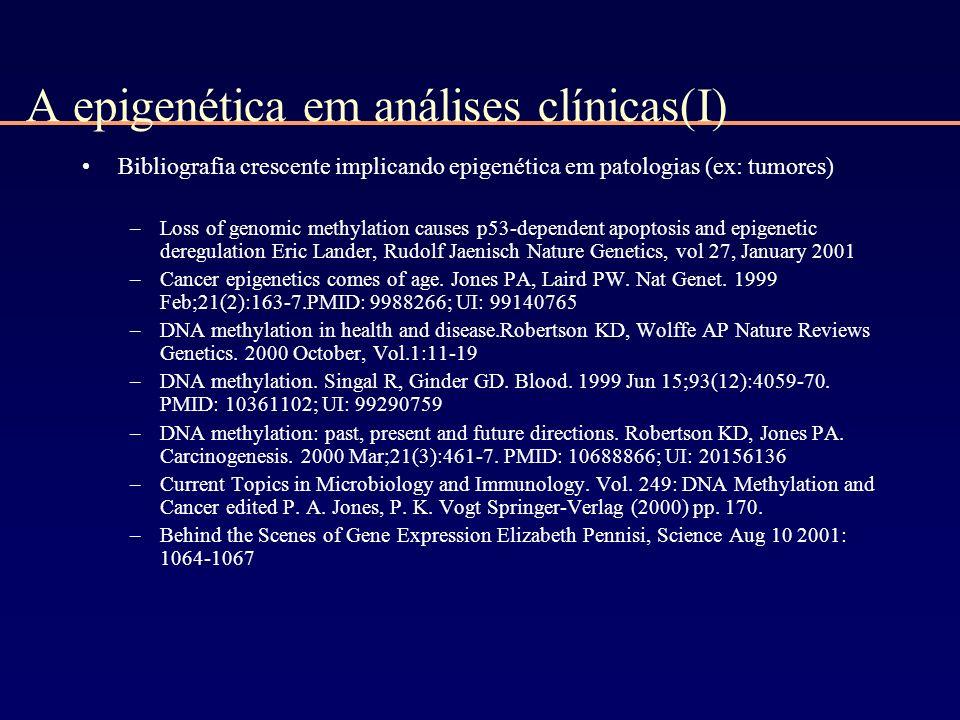 A epigenética em análises clínicas(I)