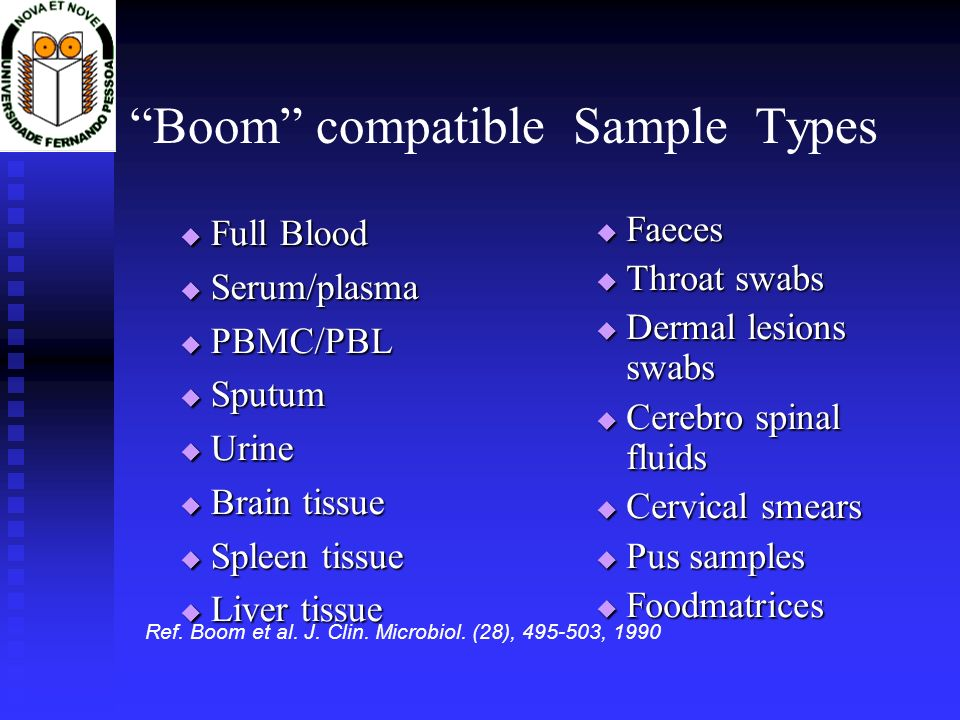 Boom compatible Sample Types