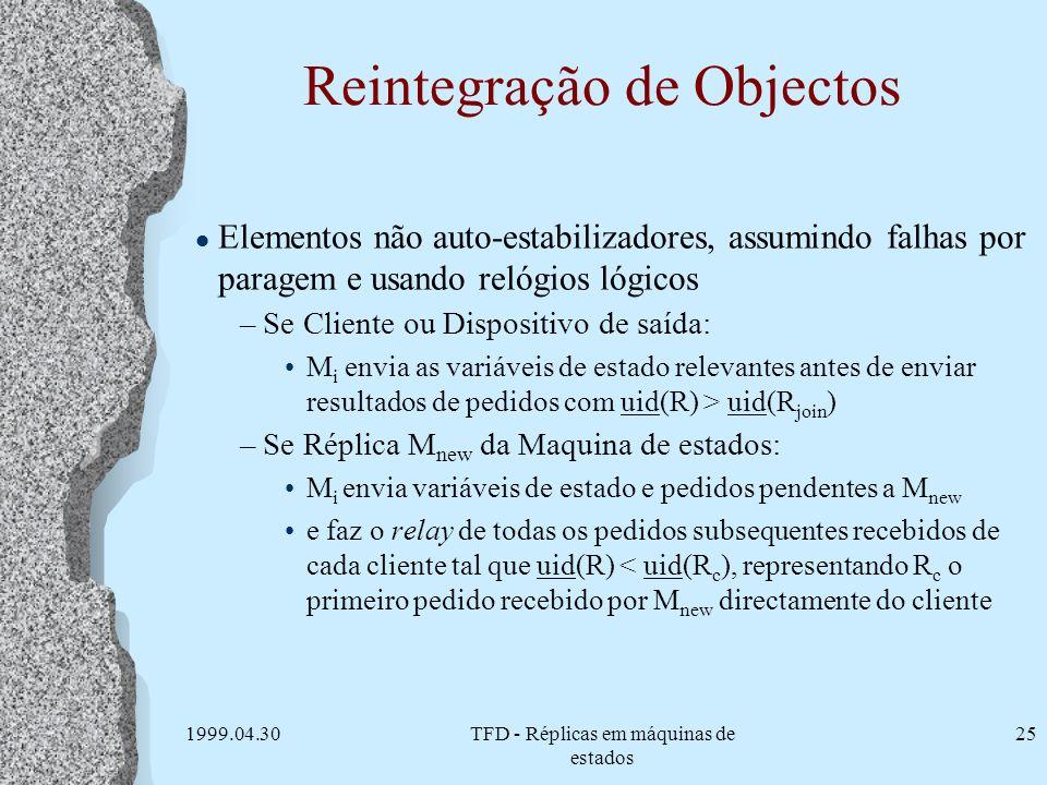 Reintegração de Objectos