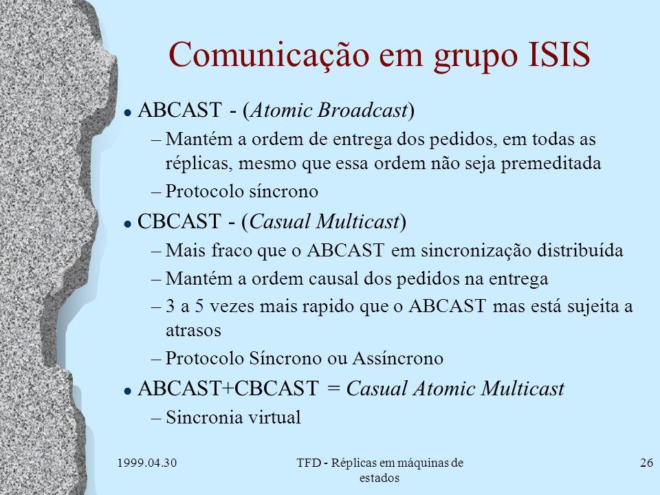 Comunicação em grupo ISIS