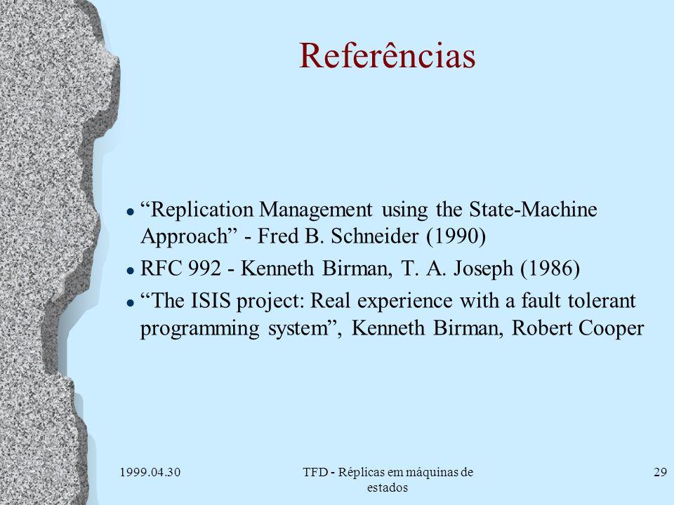 TFD - Réplicas em máquinas de estados