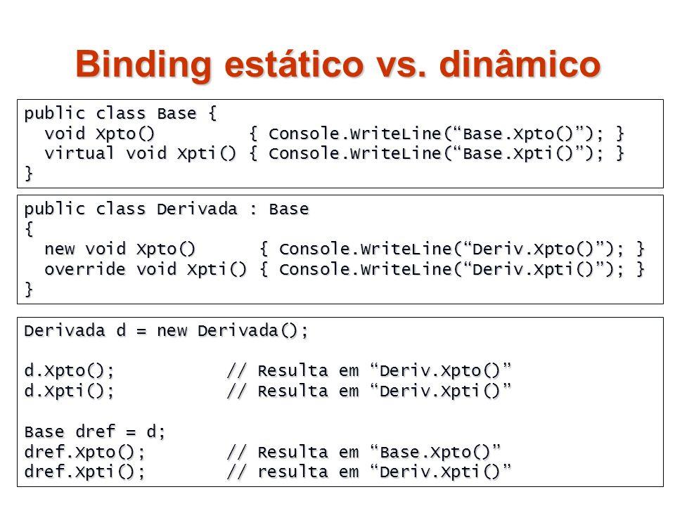 Binding estático vs. dinâmico