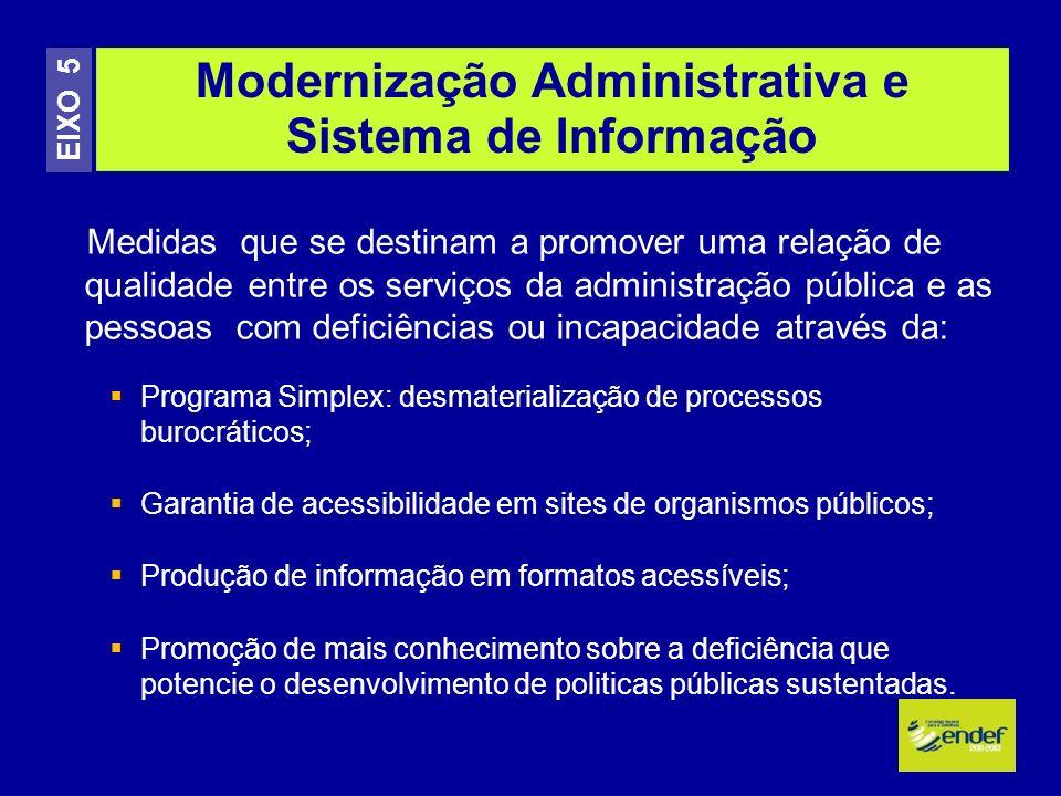 Modernização Administrativa e Sistema de Informação