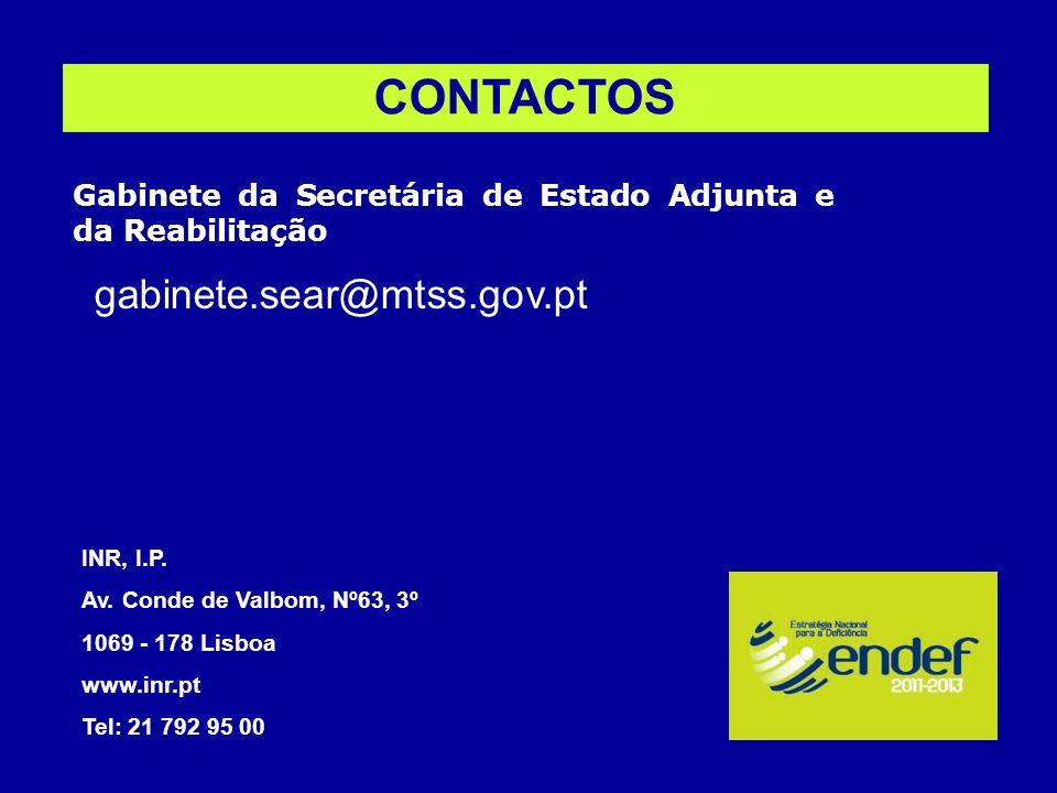 CONTACTOS gabinete.sear@mtss.gov.pt