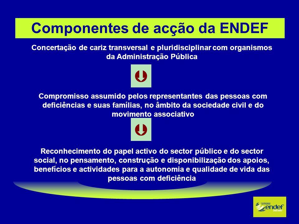 Componentes de acção da ENDEF