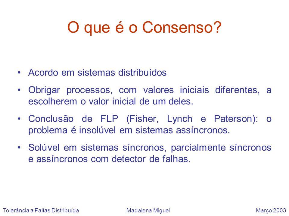 O que é o Consenso Acordo em sistemas distribuídos