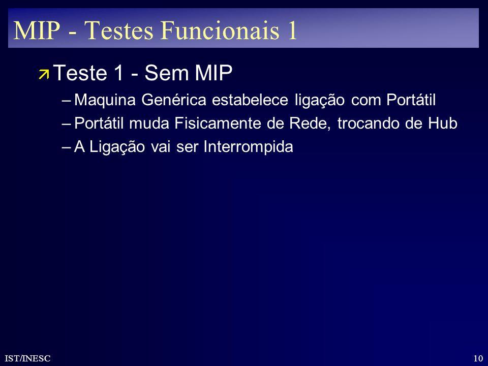 MIP - Testes Funcionais 1